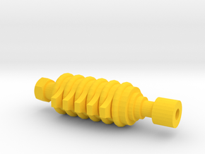 ARG Airsoft Muzzle Tip (14mm-) in Yellow Processed Versatile Plastic