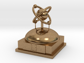 Lithium Atomamodel in Natural Brass