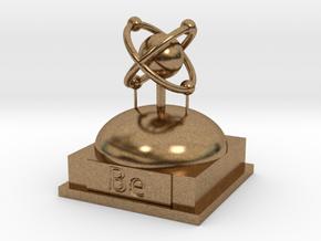 Beryllium Atomamodel in Natural Brass
