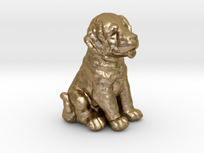 URNS Labrador Puppy 1.5mm in Polished Gold Steel