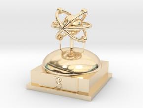 Boron Atomamodel in 14K Yellow Gold