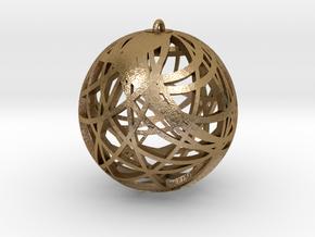 Earing Node in Polished Gold Steel
