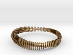 Bracelet Sections in Polished Gold Steel