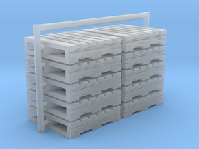 Ho scale Pallets set of 10 in Smooth Fine Detail Plastic