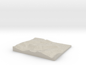 Model of Larsbreen in Natural Sandstone