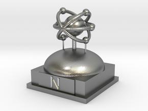 Nitrogen Atomamodel in Natural Silver