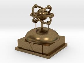 Nitrogen Atomamodel in Natural Bronze