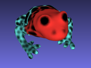 Red Poison Arrow Frog in Full Color Sandstone