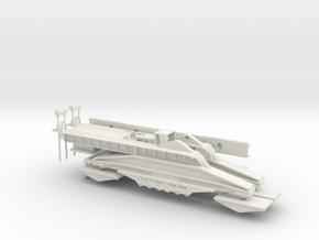 Schwerer Gustav 1/285 with rotatable barrel & trac in White Natural Versatile Plastic