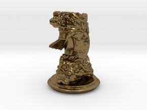 Chinese Dragonfish Knight in Polished Bronze
