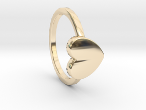 Heart Ring Size 6 in 14K Yellow Gold