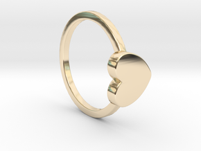 Heart Ring Size 7.5 in 14K Yellow Gold