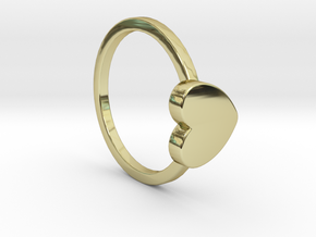 Heart Ring Size 7.5 in 18k Gold Plated Brass
