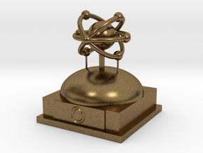 Oxygen Atomamodel in Natural Bronze