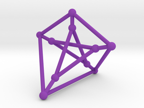 Petersen Graph with Ghost Symmetry in Purple Strong & Flexible Polished