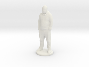 Taller Statue of Dragomir Petkanski in White Natural Versatile Plastic
