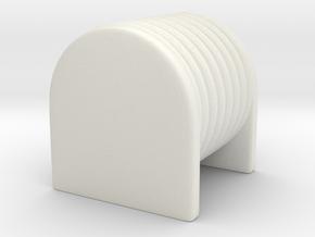 1/87 70's era Hose Reel in White Natural Versatile Plastic
