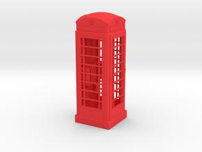 K6 Telephone Box (7.5cm) in Red Processed Versatile Plastic
