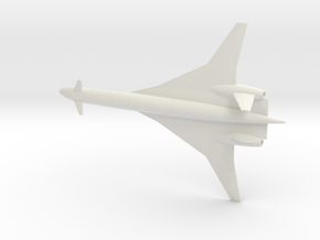 1/700 BOEING SONIC CRUISER REVISED in White Natural Versatile Plastic