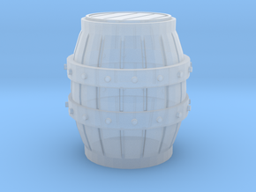 O Scale Barrel in Smooth Fine Detail Plastic