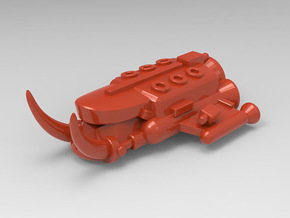 Crusha Escort Ship in Red Processed Versatile Plastic