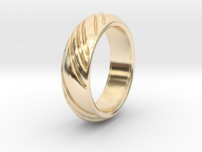 Swirly Ring in 14k Gold Plated Brass: 8 / 56.75