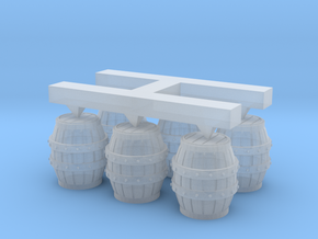 S Scale Barrels (2) in Smooth Fine Detail Plastic