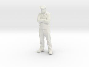 HO Scale Dapper Dan in White Natural Versatile Plastic