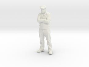 O Scale Dapper Dan in White Natural Versatile Plastic
