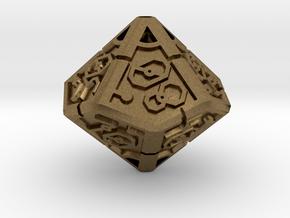 Vertex Dice RPG Set and Singles in Natural Bronze: d00