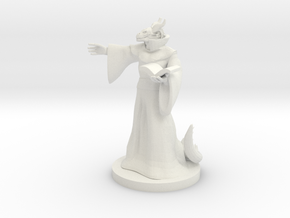 Dragonborn Warlock (Male) in White Natural Versatile Plastic