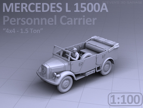Mercedes L 1500 A - PERSONNEL CARRIER (1:100) in Smooth Fine Detail Plastic