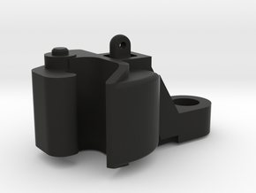1:20.3 F-Scale Knuckle Coupler in Black Natural Versatile Plastic