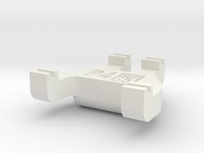 Protofour Track Gauge - Code 83 in White Natural Versatile Plastic