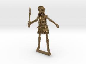 Skeleton Armoured Axe Helmet in Natural Bronze