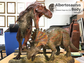 Albertosaurus Body (Total 56cm / 1:16) in White Natural Versatile Plastic