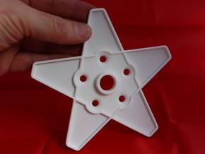 XMAS STAR 308 WHEEL120 MM in White Natural Versatile Plastic