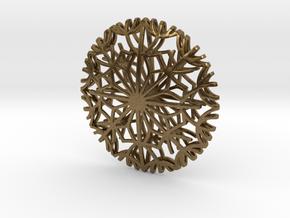 Dandelion seeds pendant in Natural Bronze