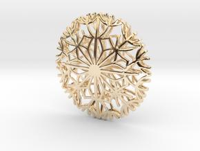 Dandelion seeds pendant in 14K Yellow Gold