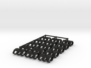 Game Piece, Shipyard, 15-set in Black Natural Versatile Plastic