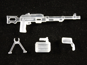 PK Machine Gun in Smoothest Fine Detail Plastic