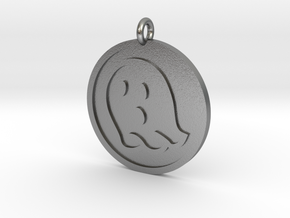Ghost Pendant in Natural Silver