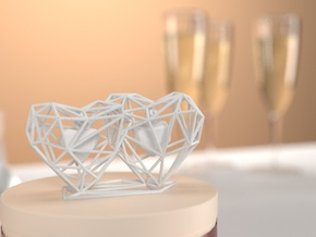 3D Hearts Wedding gift in White Natural Versatile Plastic