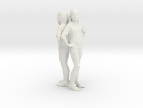 Printle C Couple 002 - 1/24 - wob in White Strong & Flexible