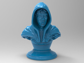 Rogue-Mage Bust in Blue Processed Versatile Plastic: Medium