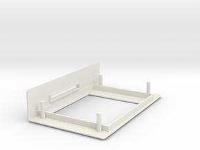 1.8 TFT Display Module Bezel + SD Slot in White Natural Versatile Plastic
