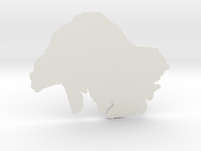 Coaster in White Natural Versatile Plastic