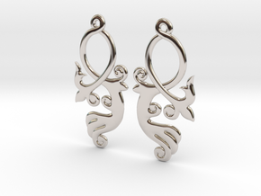 Crossing Tail Earring Set in Platinum