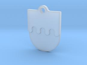 Crownsguard Pendant in Smooth Fine Detail Plastic