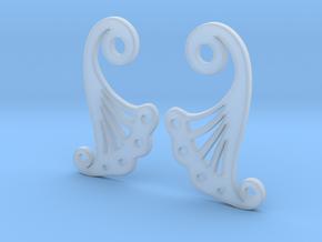 Petal Earring Set in Smooth Fine Detail Plastic